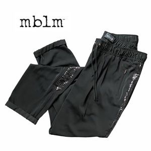 mblm Black & Side Sequins Drawstring Trousers